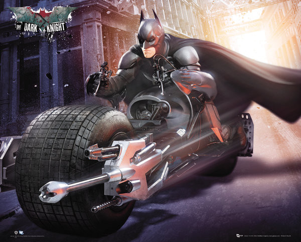Plagát BATMAN DARK KNIGHT RISES - bike
