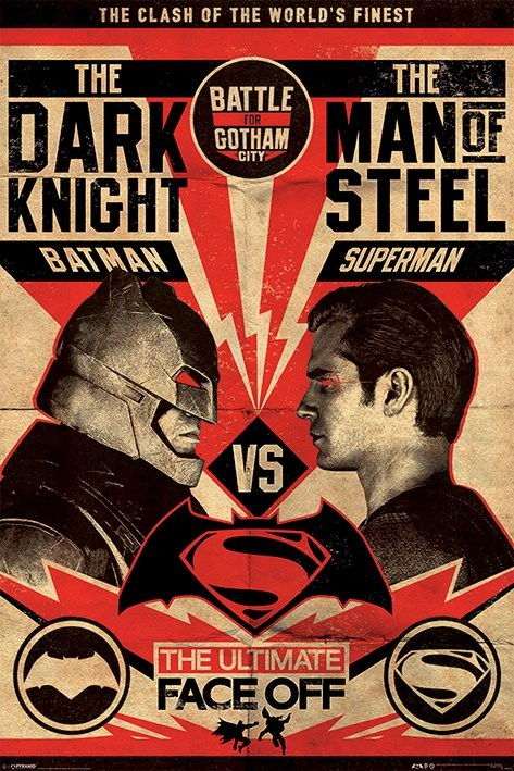 Plagát Batman vs. Superman: Úsvit spravodlivosti - Fight Poster