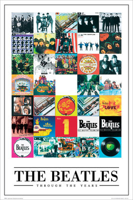 Plagát Beatles - through the years