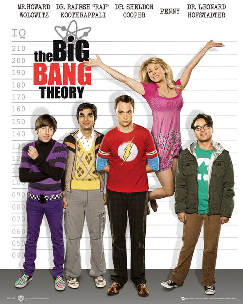 Plagát BIG BANG THEORY - line up