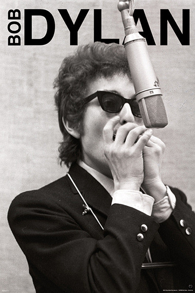Plagát Bob Dylan - harmonica