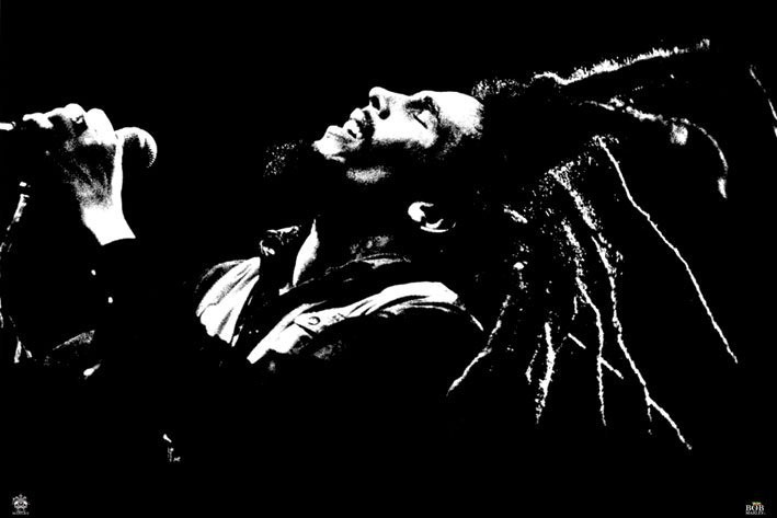 Plagát Bob Marley - black & white
