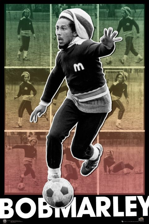 Plagát Bob Marley – football