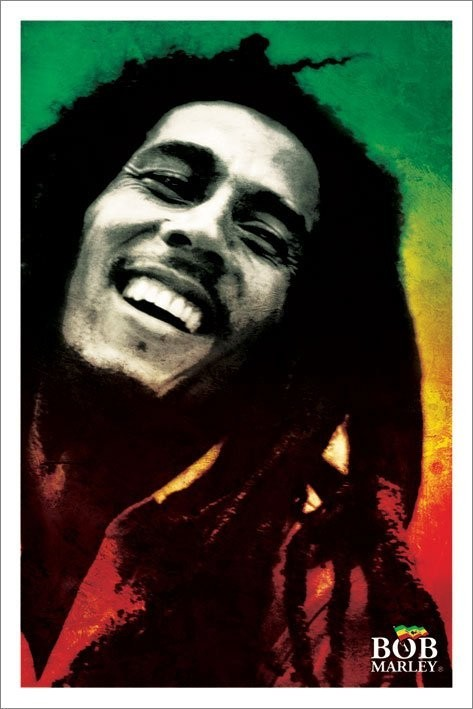Plagát Bob Marley - paint