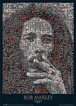 Plagát Bob Marley - photomosaic