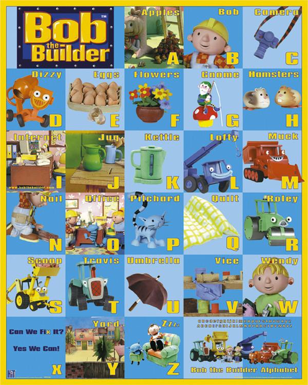 Plagát BOB THE BUILDER - A to Z