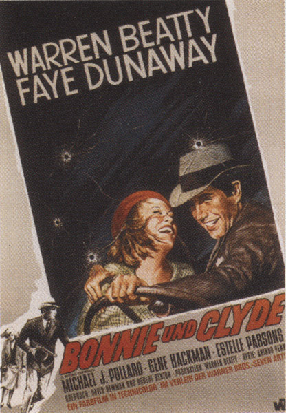 Plagát Bonnie a Clyde - Faye Dunaway, Warren Beaty