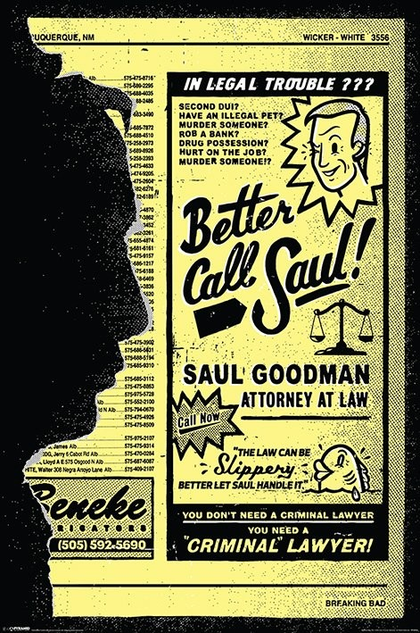 Plagát Breaking Bad (Perníkový tatko) - Better Call Saul!