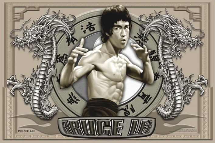 Plagát Bruce Lee - circles