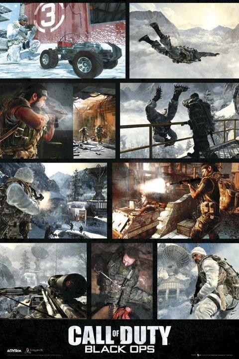 Plagát Call of Duty - black ops screen