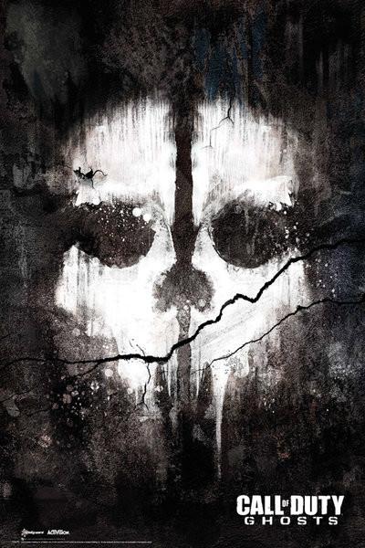 Plagát Call of Duty Ghosts - skull