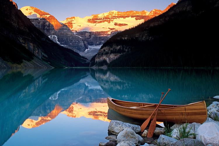 Plagát Canoe on lakee Louise