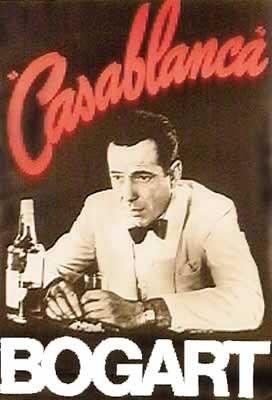 Plagát Casablanca - Humphrey Bogart drinking at Rick's