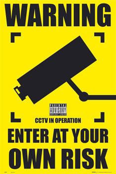 Plagát CCTV - warning