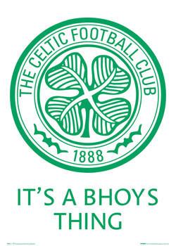 Plagát Celtic - bhoys thing badge