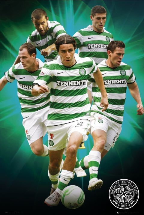 Plagát Celtic - players 2010/2011