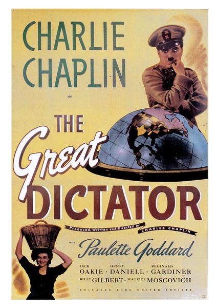 Plagát Charlie Chaplin - The Great Dictator
