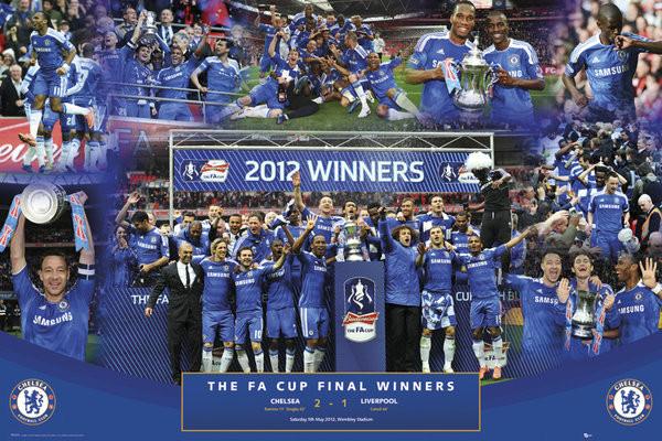 Plagát Chelsea - fa cup winners 11/12