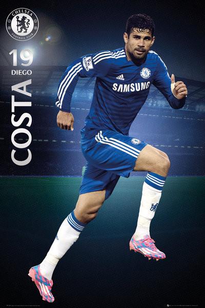 Plagát Chelsea FC - Costa 14/15