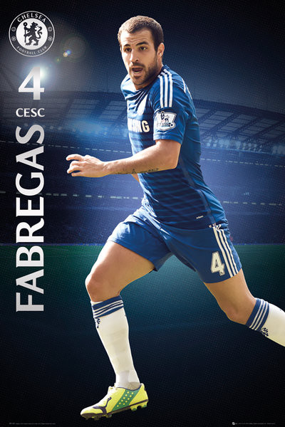 Plagát Chelsea FC - Fabregas 14/15