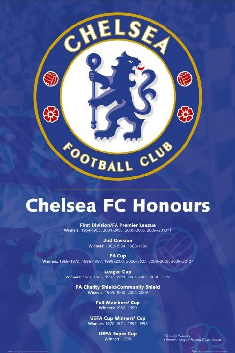 Plagát Chelsea - honours 2010