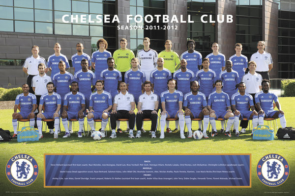 Plagát Chelsea - Team photo 11/12