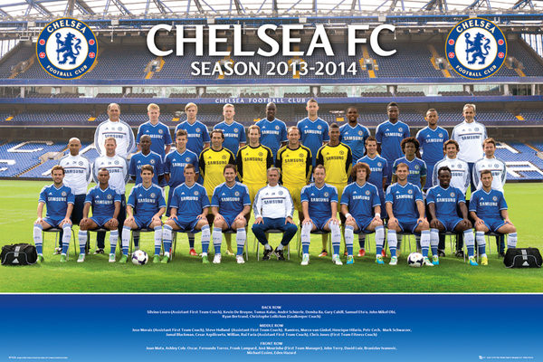 Plagát Chelsea - Team photo 13/14