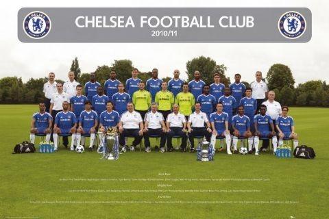 Plagát Chelsea - Team photo 2010/2011