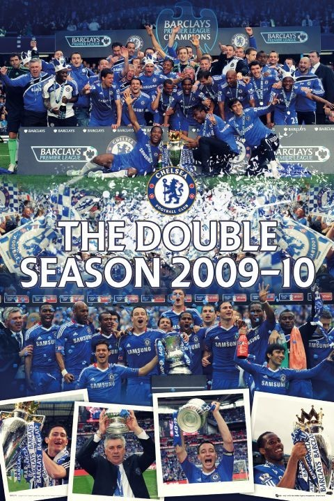 Plagát Chelsea - the double