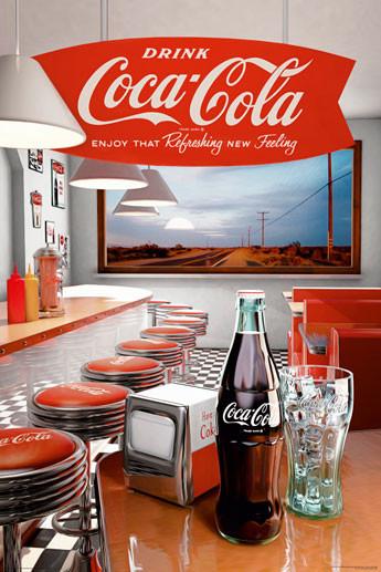 Plagát Coca Cola - diner