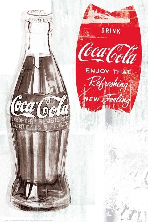 Plagát Coca Cola - retro