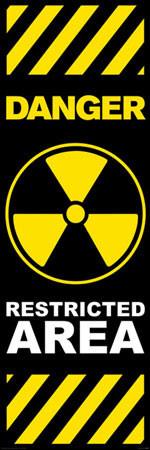 Plagát Danger - restricted area