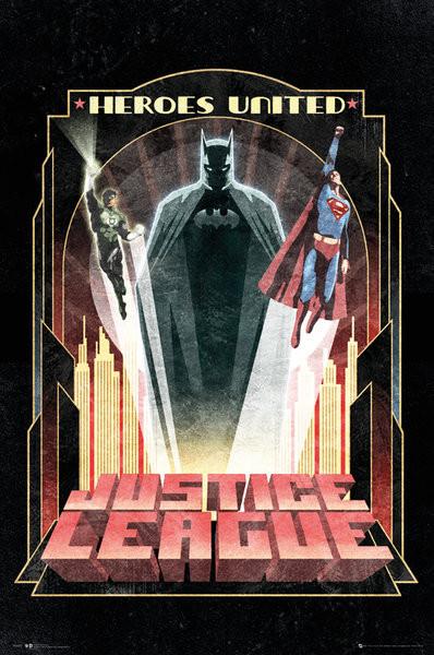 Plagát DC Comics - Batman Art Deco