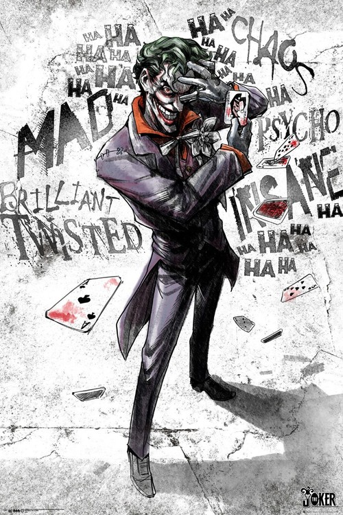 Plagát DC Comics - Joker Type