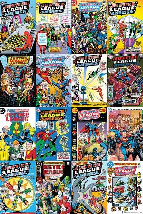 Plagát DC Comics - Justice League Cover Montage