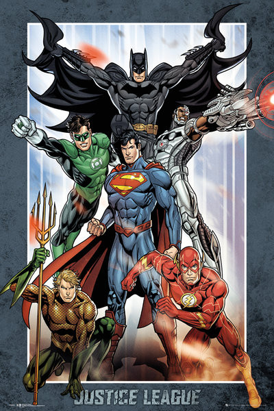 Plagát DC Comics - Justice League Group
