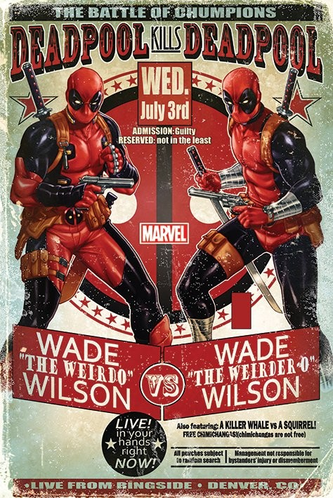Plagát Deadpool - Wade vs Wade