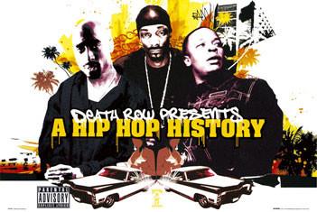 Plagát Death Row - Hip Hop history