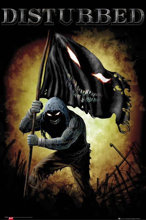 Plagát Disturbed - face flag