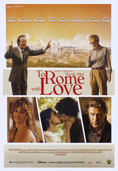 Plagát DO RÍMA S LÁSKOU - TO ROME WITH LOVE