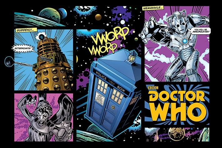 Plagát Doctor Who - Comic Layout
