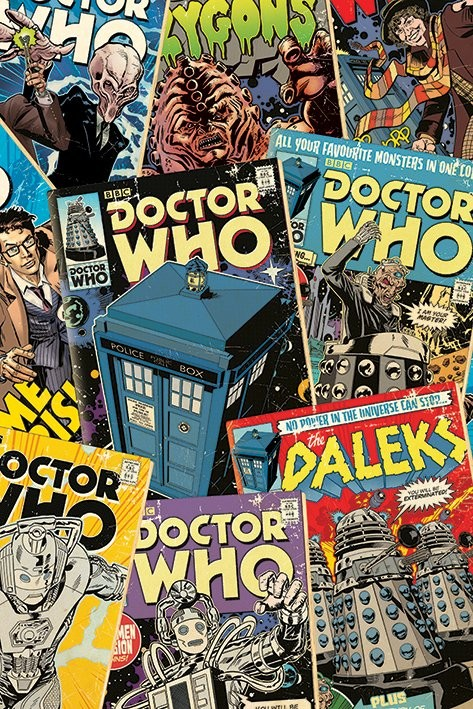 Plagát Doctor Who - Comic Montage