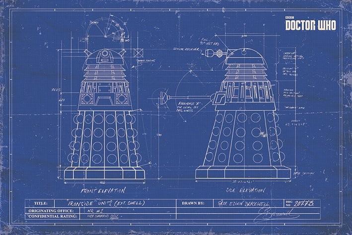 Plagát Doctor Who - Dalek Blueprint