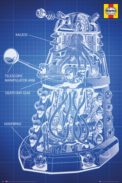 Plagát Doctor Who - Haynes Dalek Blueprint