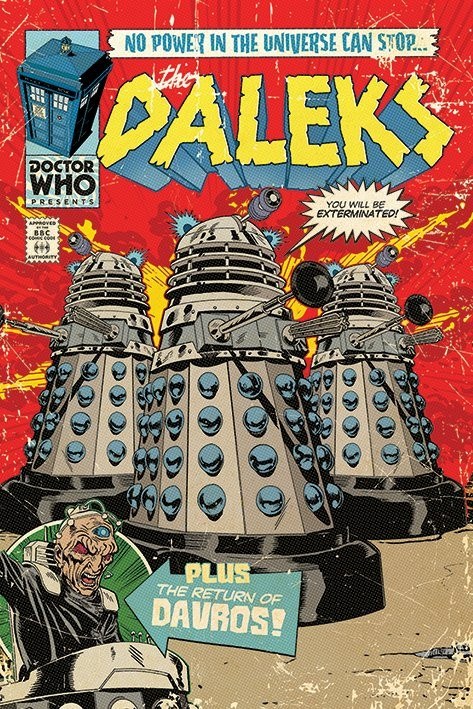 Plagát Doctor Who - The Daleks Comic