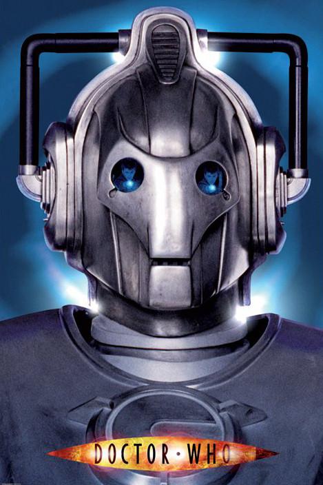 Plagát DR. WHO - cyberman face