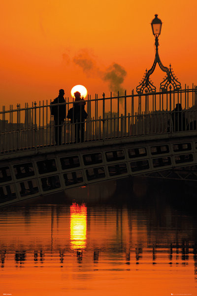 Plagát Dublin - Halfpenny Bridge Portrait