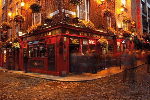 Plagát Dublin - Temple Bar