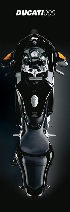Plagát Ducati - black 999r