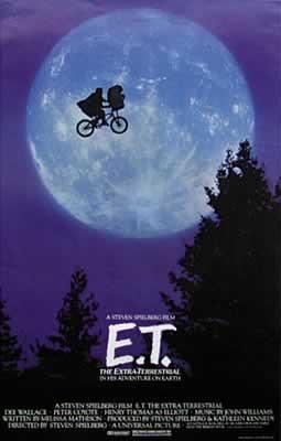 Plagát E.T. - american (moon & bike)